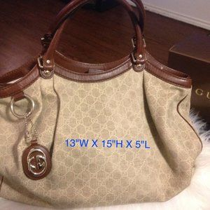 Authentic GUCCI GG Pattern Hobo
